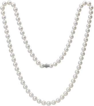 """Assael Akoya 32"""" Akoya Cultured 9.5mm Pearl Necklace with White Gold Clasp"""