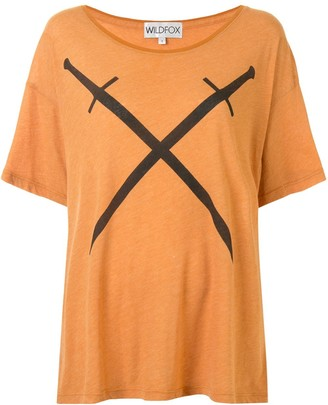Wildfox Couture sword-print T-shirt
