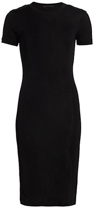 Helmut Lang Silk Ribbed T-Shirt Dress