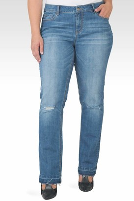 Standards & Practices X-Boyfriend Rolled Cuff Jeans in Blue Size 14R