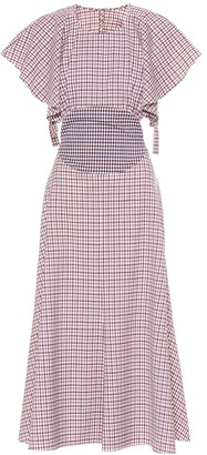 Rosie Assoulin Venn Diagram checked wool dress