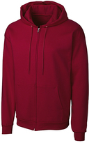 Clique Dark Red Fleece Zip-Up Hoodie - Unisex