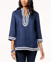 Charter Club Linen Tunic, Created for Macy's