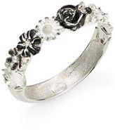 Kenneth Jay Lane Floral Bangle Bracelet