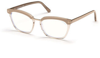 Tom Ford Cat-Eye Transparent Acetate Optical Frames