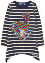 Desigual Striped top with sequins