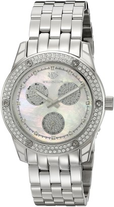 Wellington Mataura Women's Quartz Watch with Mother of Pearl Dial Analogue Display and Silver Stainless Steel Bracelet WN507-181A