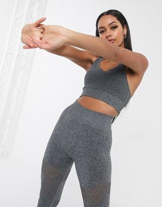 Asos 4505 4505 seamless textured sports bra-Multi