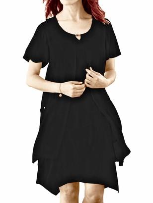 Cellbes BLACK Trapeze Hem Overlay Dress - Size 8/10 to 12/14 (UK 8\10)