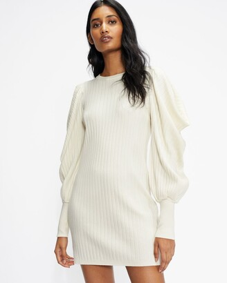 Ted Baker Statement Sleeve Knitted Dress