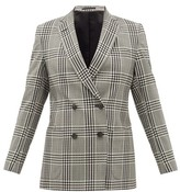 Officine Generale Mathilde Checked Wool-seersucker Blazer - Womens - Grey