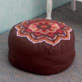 Novica Handcrafted Cotton Rayon 'Balodra Exuberance' Ottoman Cover (India)