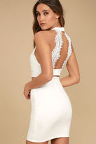 LuLu*s Chic My Interest Ivory Lace Two-Piece Dress