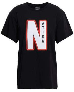 P.E Nation Appliqued Cotton-jersey T-shirt