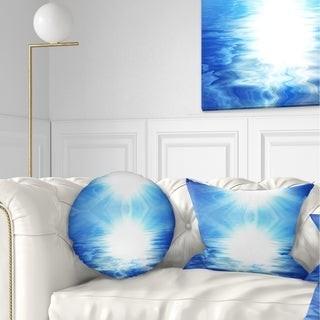 Design Art Designart 'Blue Sky Mirrored in Blue Sea' Seascape Throw Pillow