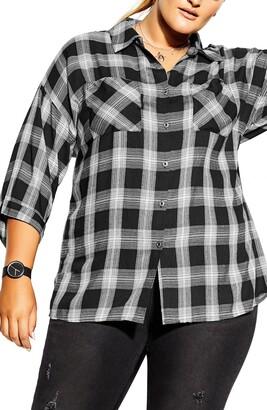 City Chic Check Shirt