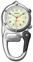 Dakota Mini-Clip Microlight Carabiner Pocket Watch, Silver