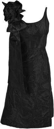 Miu Miu Taffeta Bow And Rose Applique Dress