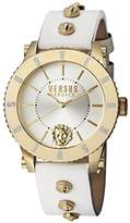 Versus By Versace Women's Madison Quartz Stainless Steel and Leather Casual Watch, Color:White (Model: S31090016)