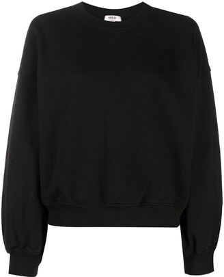 AGOLDE Round Neck Cotton Sweatshirt