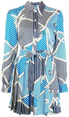 MSGM mixed-print shirt dress