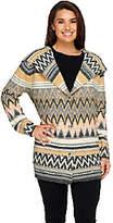 Liz Claiborne New York Chevron Hooded Sweater Coat