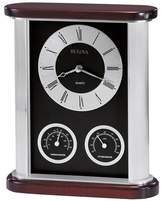 Bulova Belvedere Table Clock with Thermometer and Hygrometer Subdials