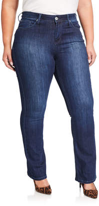 Seven7 Jeans Plus Size Mid Rise Embroidered Rocker Slim Boot Jeans