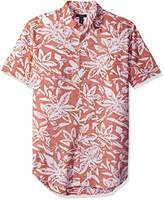 Van Heusen Men's Printed Slub Short Sleeve Shirt