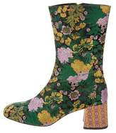 Erdem Brocade Mid-Calf Boots