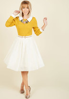 ModCloth Tulle of the Trade A-Line Skirt in Cream in 4X
