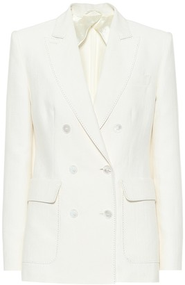 Max Mara Ottuso linen and silk blazer