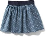 Old Navy Patterned Chambray Skirt for Girls