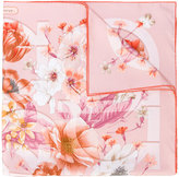 Salvatore Ferragamo Gancio floral print scarf - women - Silk - One Size