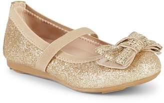 Stuart Weitzman Baby Girl's & Little Girl's Fannie Glitter-Embellished Mary Jane Flats
