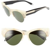 Victoria Beckham Women's 58Mm Retro Sunglasses - Amber Tortoise/ Grey