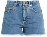 MiH Jeans Halsy raw-hem mid-rise denim shorts