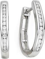 JCPenney FINE JEWELRY 1/4 CT. T.W. Diamond Sterling Silver Hoop Earrings