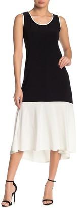Tash + Sophie Colorblock Sleeveless Midi Dress