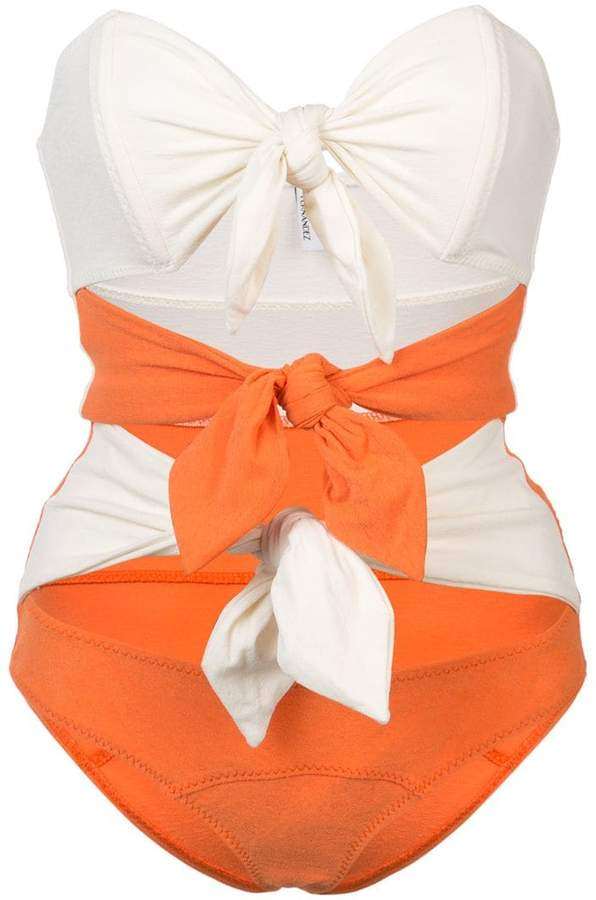 Triple Poppy knotted swimsuit