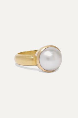 Pippa Small 18-karat Gold Pearl Ring - 6