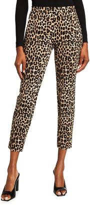 MICHAEL Michael Kors Cheetah Print Skinny Ponte Trousers