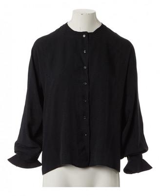 Pierre Cardin Black Silk Tops
