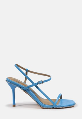 Missguided Blue Strappy Heeled Sandals