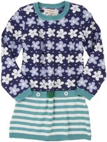 Hatley Sweater Dress (Toddler/Kid) - Lilac Flowers-7