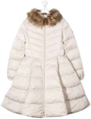 Elisabetta Franchi La Mia Bambina TEEN flared puffer jacket
