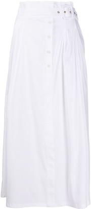 Patrizia Pepe belted paperbag waist cotton blend skirt