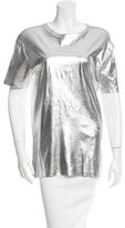 McQ by Alexander McQueen Metallic Short Sleeve Top w/ Tags
