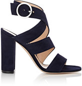 Gianvito Rossi Women's Rylee Ankle-Wrap Sandals-NAVY