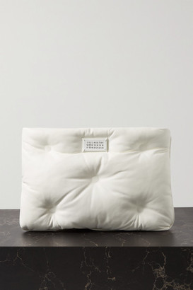 Maison Margiela Pillow Quilted Leather Pouch - White